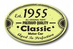 Distressed Aged Established 1955 Aged To Perfection Oval Design For Classic Car External Vinyl Car Sticker 120x80mm